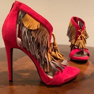 C Label Napoli 28 fringe heel New in Box!